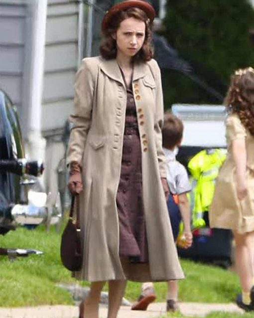 The Plot Against Zoe Kazan Beige Trench Coat