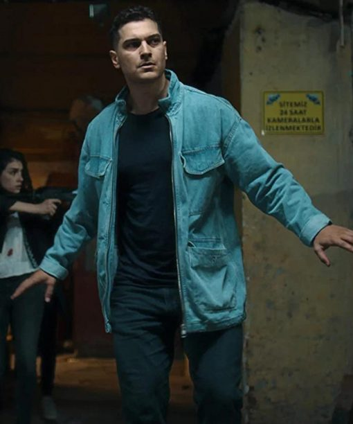 Çagatay Ulusoy The Protector Hakan Demir Blue Jacket