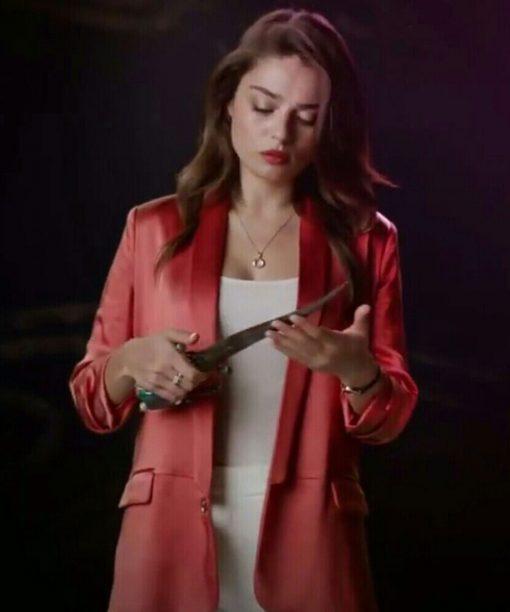 Ayça Aysin Turan Red The Protector Leyla Sancak Blazer Coat