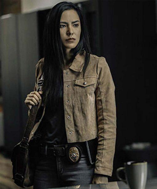 Jessica Matten Tribal Samantha Suede Leather Jacket