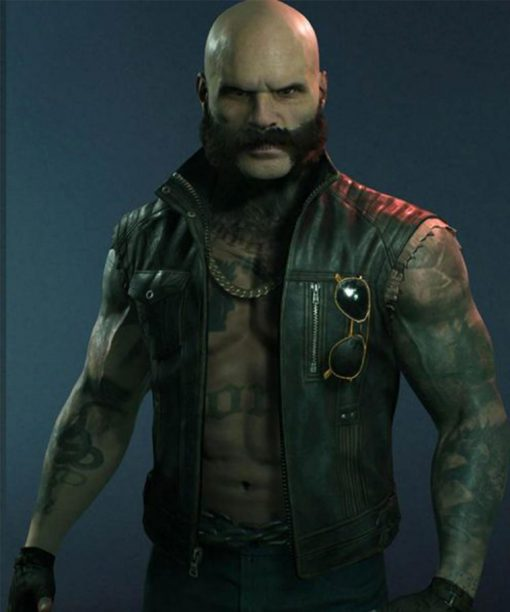 Vampire The Masquerade Bloodlines 2 Brujah Clan Leather Vest