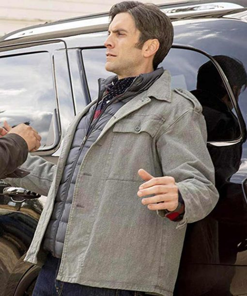 Yellowstone Wes Bentley Grey Jacket