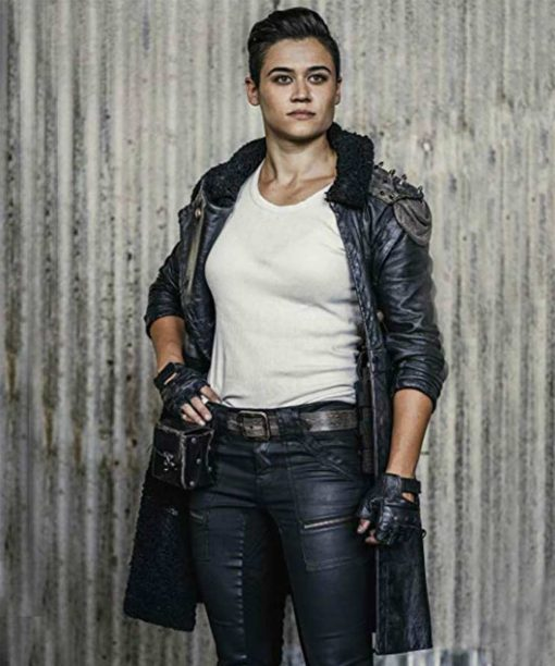 Z Nation George Leather Coat with Spikes