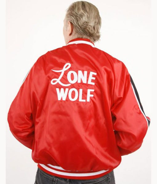 1950s Lenny Lone Wolf Red Bomber Jacket
