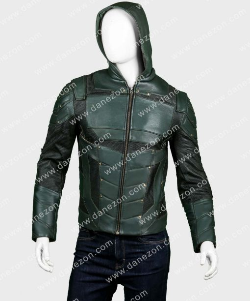 Oliver Queen Arrow S05 Jacket