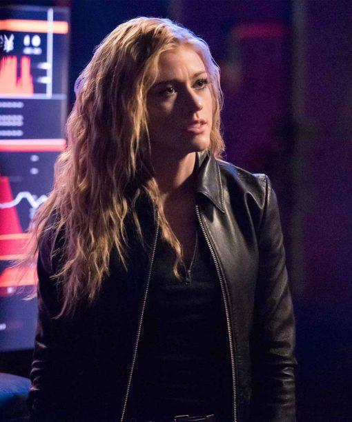 Arrow S07 Katherine McNamara Black Leather Jacket