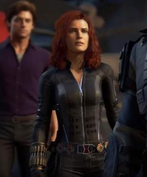 Avengers Video Game Black Widow Leather Jacket