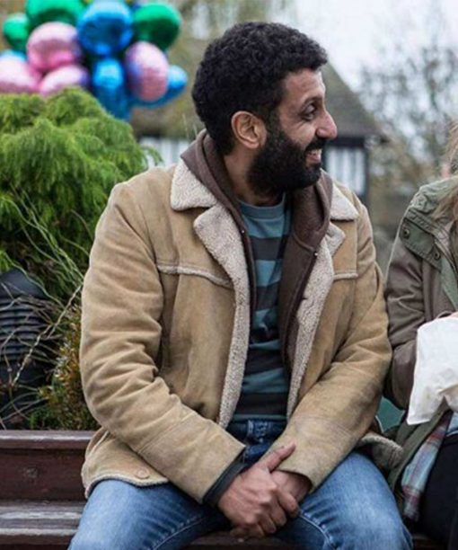 Back To Life Adeel Akhtar Suede Jacket
