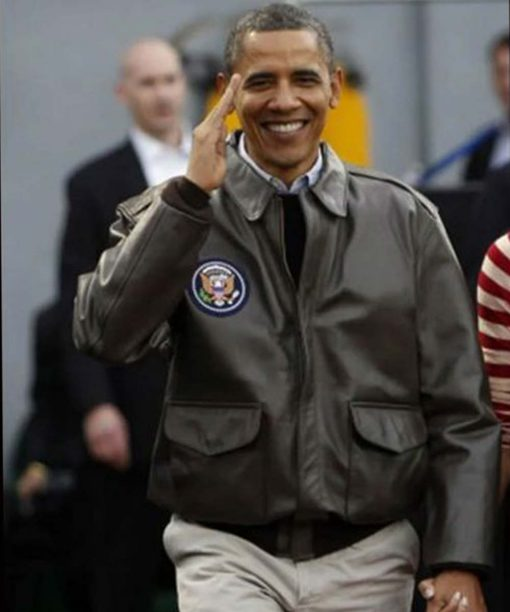 Barack Obama Air Force One Bomber Jacket