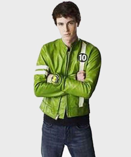 Ben 10 Ryan Kelley Green Leather Jacket