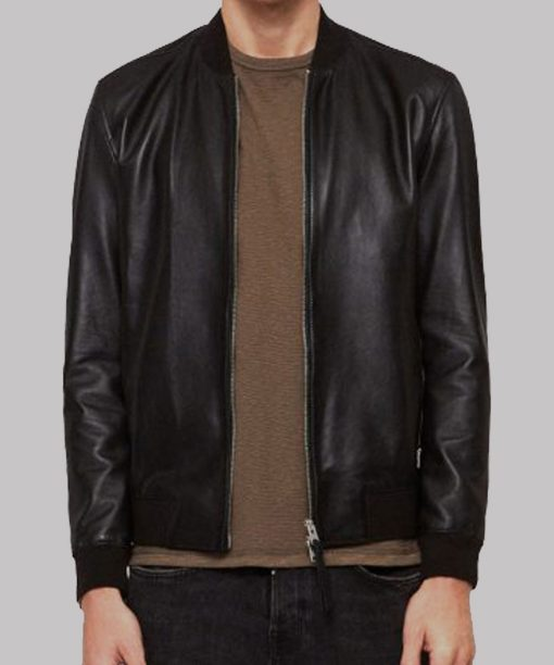 Black Bomber Jacket for Mens