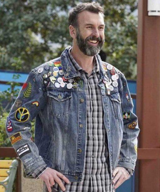 Black-ish Jeremy Matt Braunger Denim Jacket with Patches