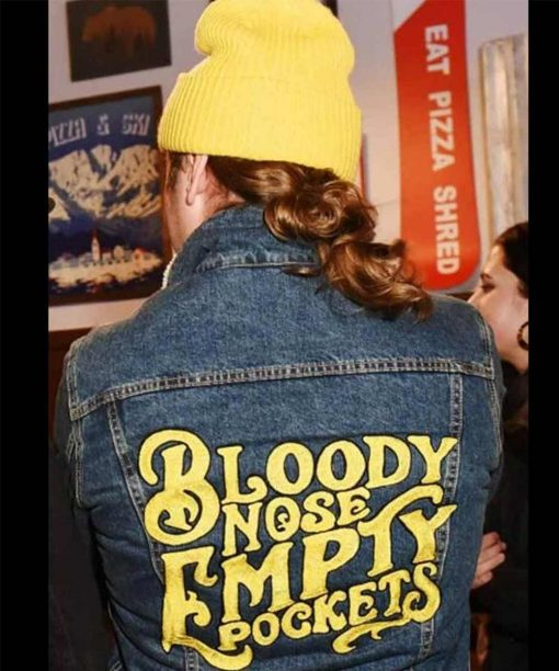 Bloody Nose Empty Pockets Denim Jacket with Patches