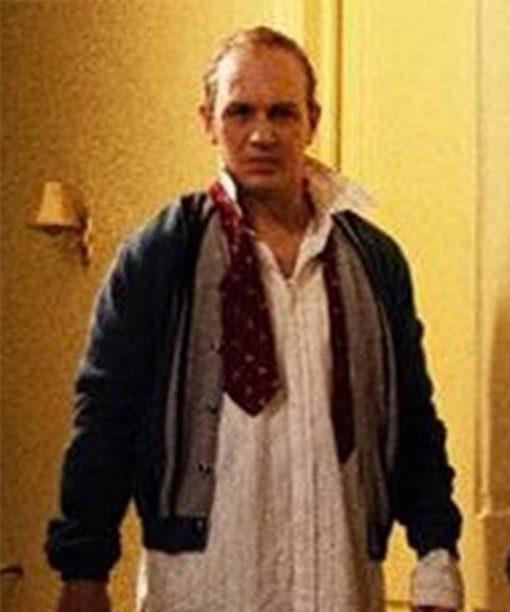 Capone Tom Hardy Leather Bomber Jacket