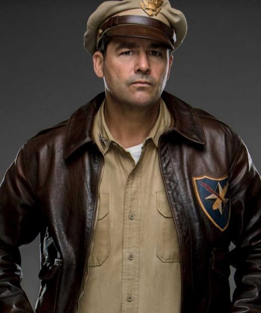 Catch 22 Kyle Chandler Leather Bomber Jacket