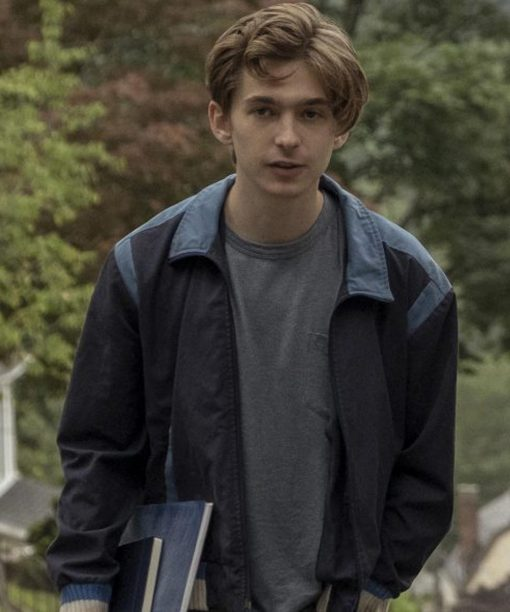 Austin Abrams Chemical Hearts Henry Page Blue Jacket