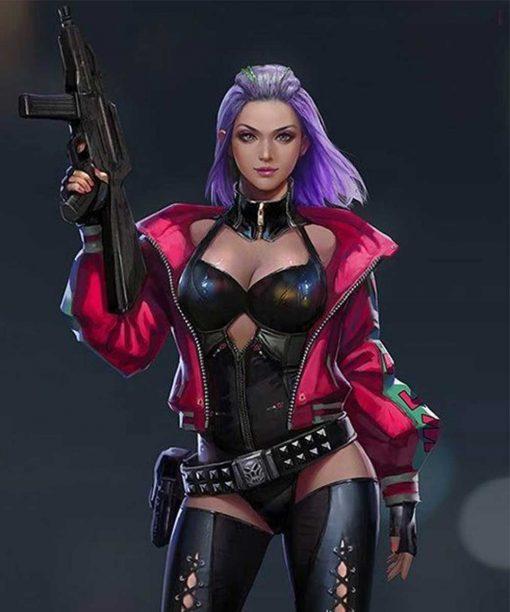 Cyberpunk 2077 Kira Madroxx Pink Leather Jacket