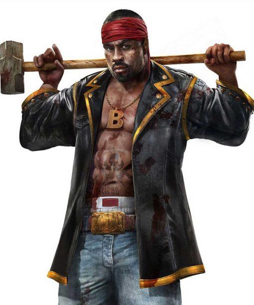 Video Game Dead Island 2 Sam B Black Leather Coat