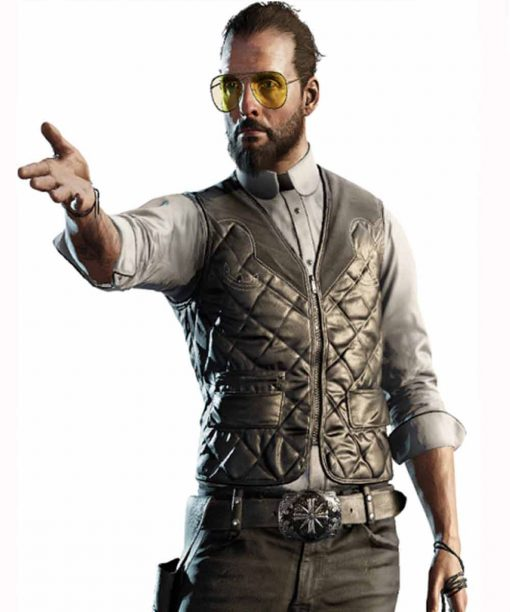 Far Cry 5 Joseph The Father Seed Black Quilted Vest