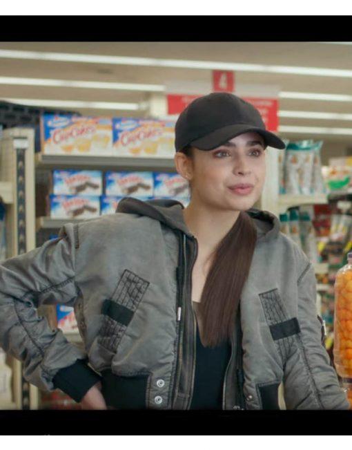 Feel The Beat Sofia Carson Grey Hooded Jacket