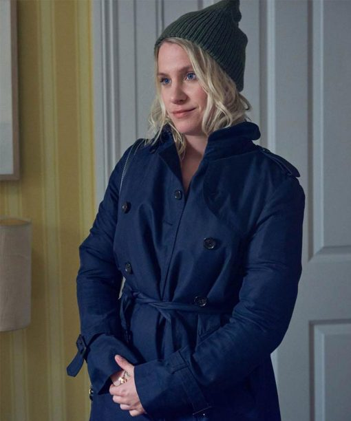 Jenny Rainsford Blue Double-Breasted Coat