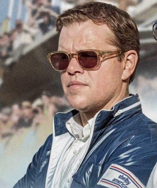Ford v Ferrari Matt Damon Blue Jacket