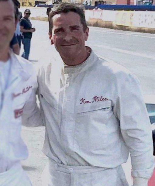 Christian Bale White Cotton Jacket