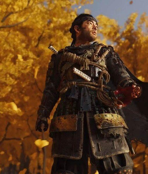 Ghost of Tsushima Jin Sakai Leather Jacket
