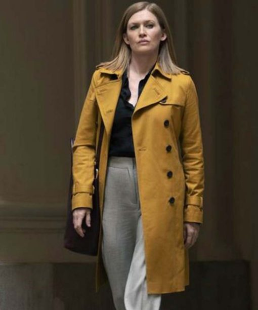 Mireille Enos Double Breasted Hanna Marissa Trench Coat