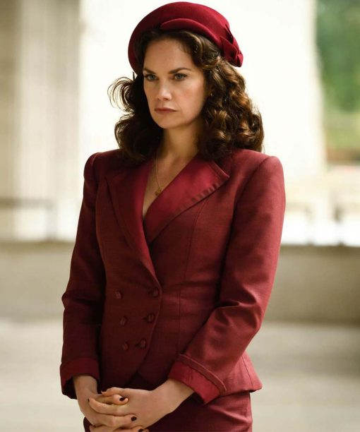 Ruth Wilson His Dark Materials Mrs Coulter Red Coat