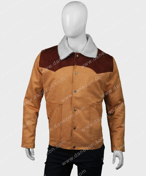 Kevin Costner Yellowstone S03 Shearling Jacket