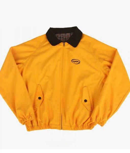 Jungkook Euphoria Yellow Bomber Jacket