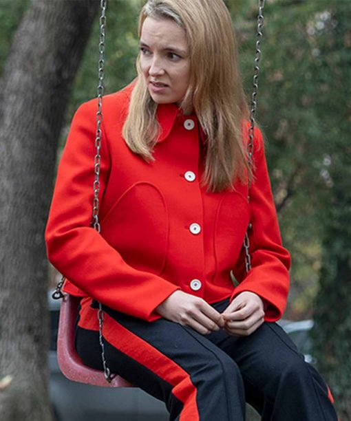 Killing Eve S03 Jodie Comer Red Cropped Jacket