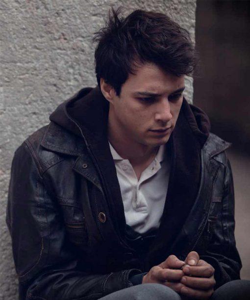 Mert Yazicioglu Love 101 Sinan Distressed Leather Jacket