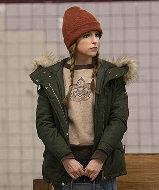 Love Life Anna Kendrick Olive Green Jacket