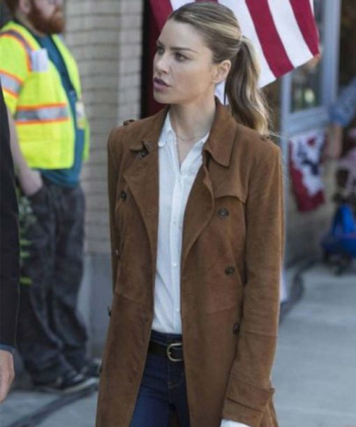 Lauren German Lucifer Chloe Decker Brown Coat