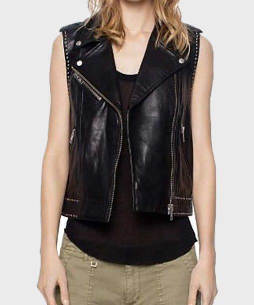 Lucifer Lesley-Ann Brandt Leather Vest