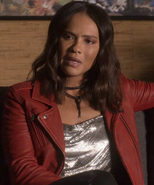 Lesley-Ann Brandt Lucifer Mazikeen Red Leather Jacket