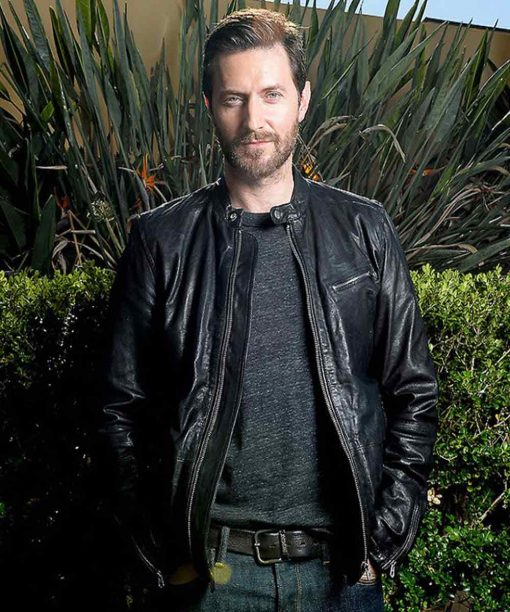 Lucifer Rob Benedict Black Leather Jacket