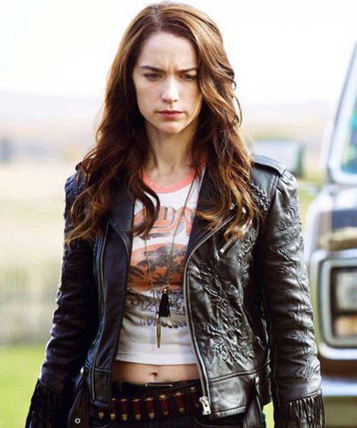Melanie Scrofano Wynonna Earp Leather Jacket