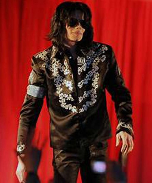 Michael Jackson This is It Conference Black Leather Jacket