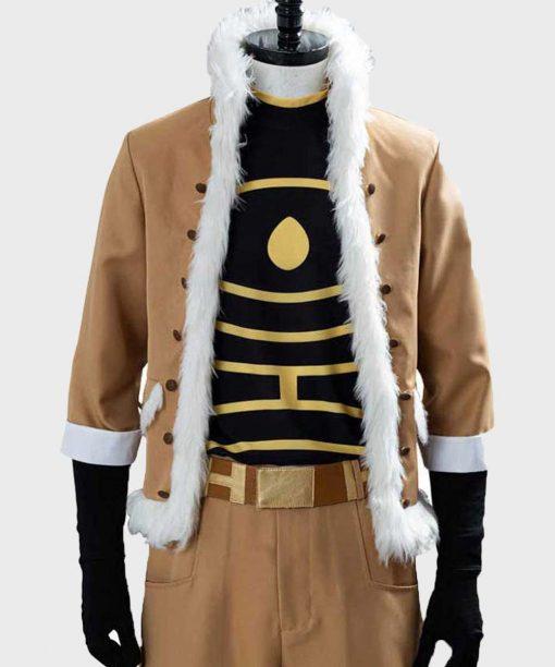 My Hero Academia Yûichi Nakamura Brown Shearling Jacket