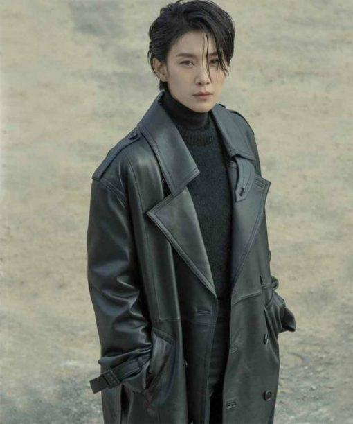 Seo-hyeong Kim Leather Coat