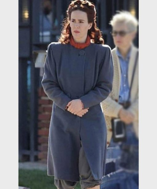 Sarah Paulson Wool-Blend Nurse Mildred Ratched Coat