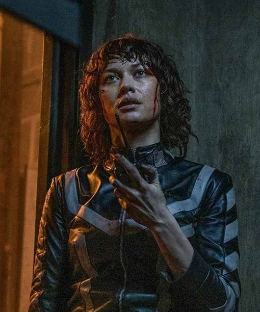The Courier Olga Kurylenko Leather Jacket
