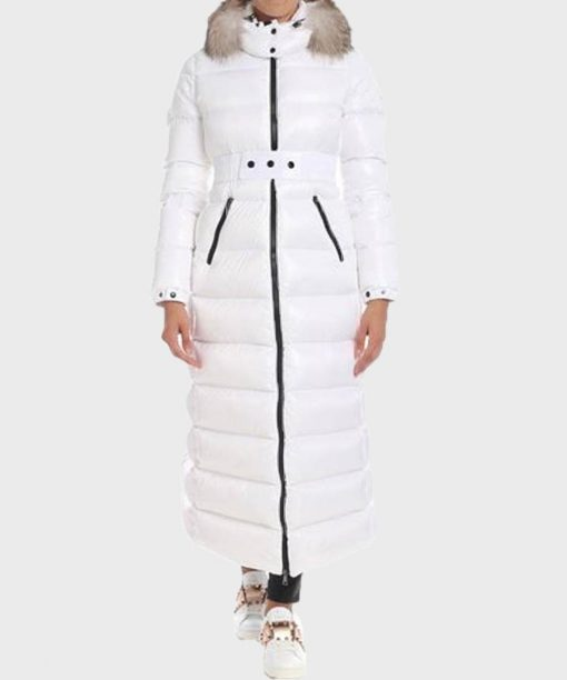 Real Housewives of Beverly Hills S10 Erika Girardi White Trench Coat