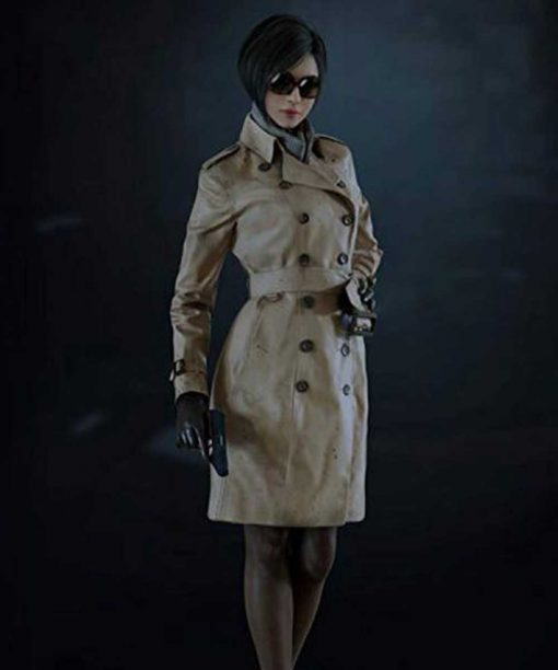 Resident Evil 2 Ada Wong Double Breasted Coat