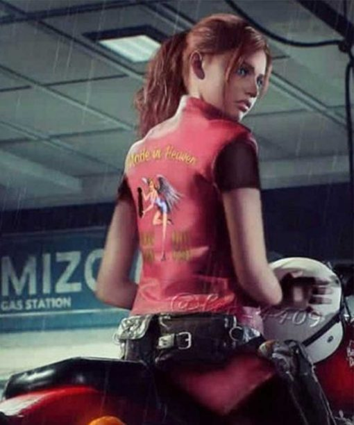 Resident Evil Claire Redfield Red Leather Vest