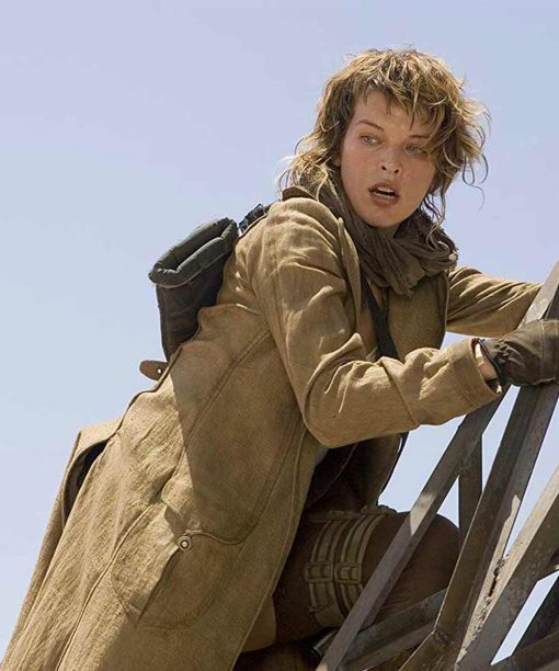 Resident Evil Extinction Milla Jovovich Trench Coat