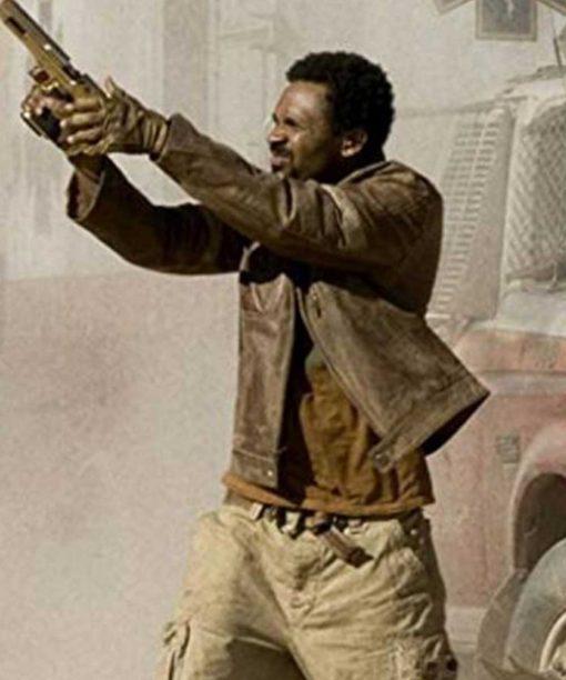 Resident Evil Extinction Mike Epps L.J Leather Jacket